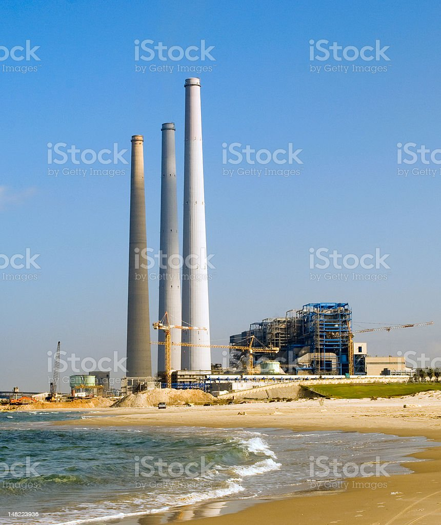 Fossil fueled power station royalty-free stock photo