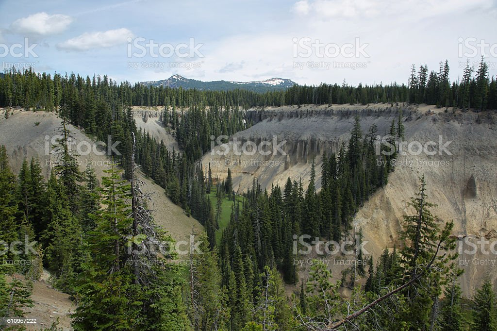 Fossil Fumaroles of Annie Creek at Crater Lake National Park stock photo