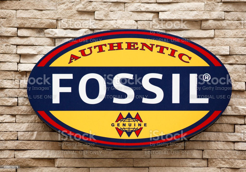 Fossil on Fifth Avenue stock photo