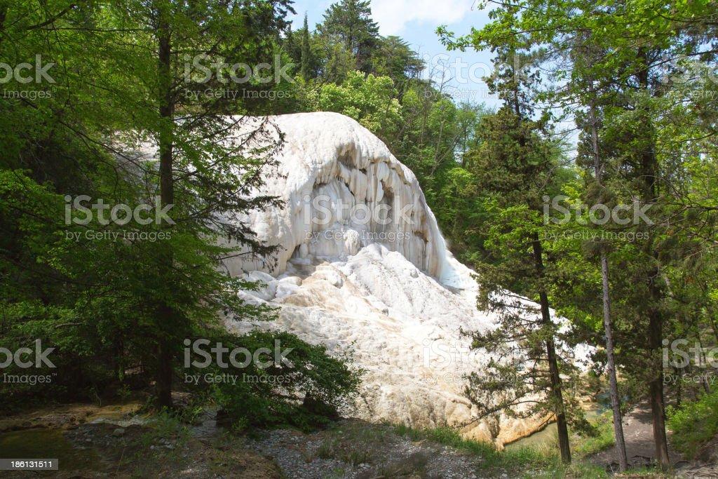 Fosso Bianco hot springs in Bagni San Filippo royalty-free stock photo