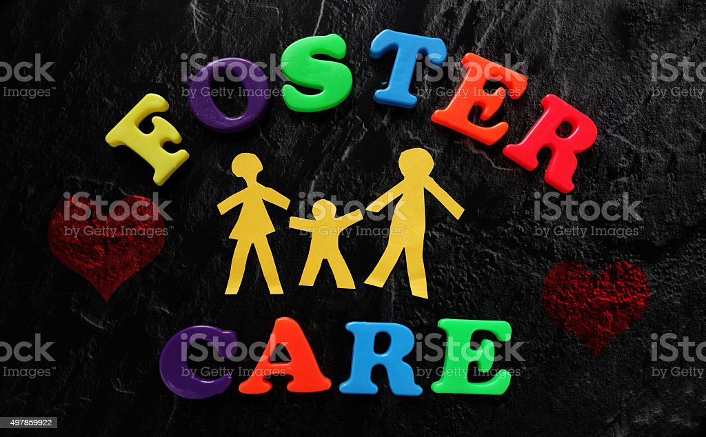 Foster Care family stock photo