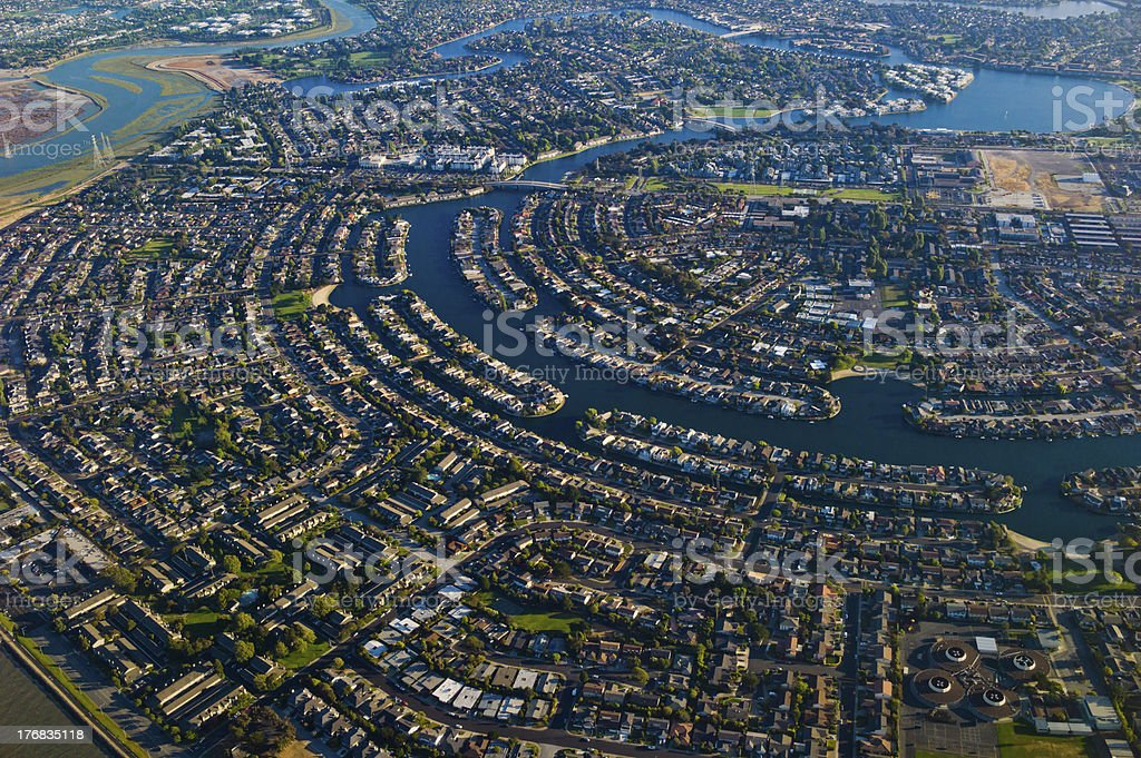 Foster City Aerial View royalty-free stock photo