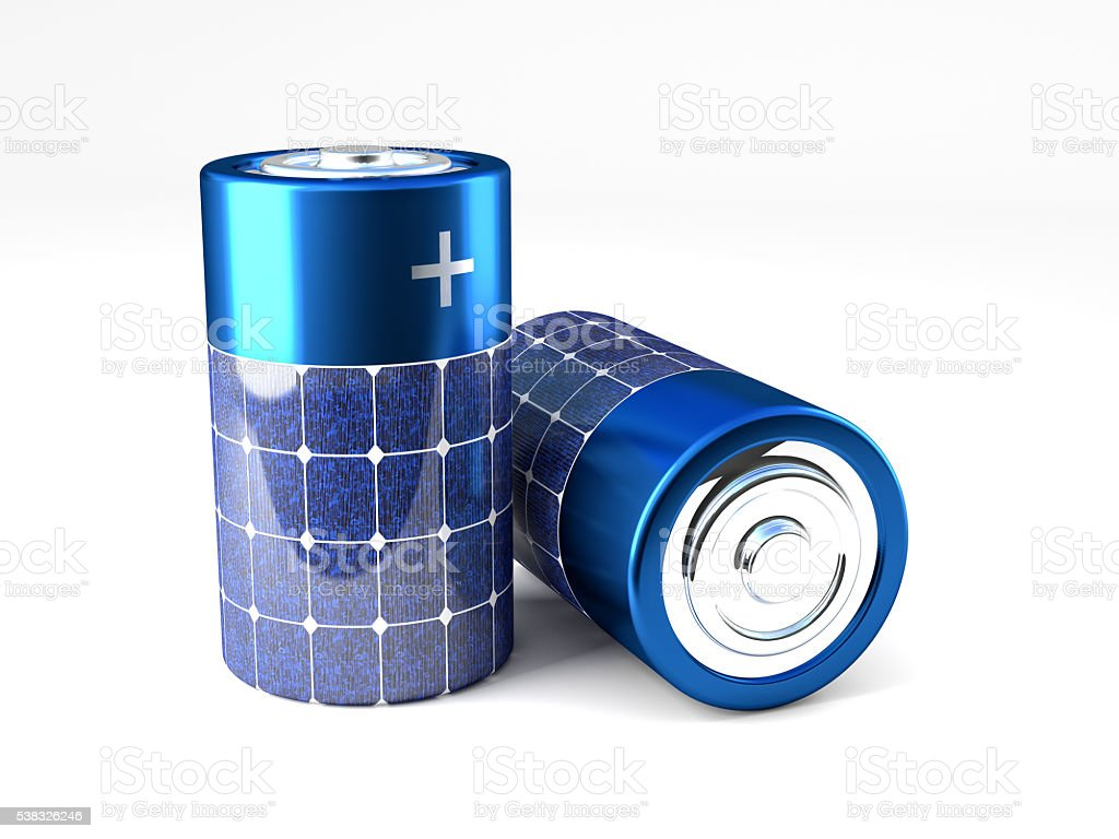 fotovoltaic energy battery stock photo