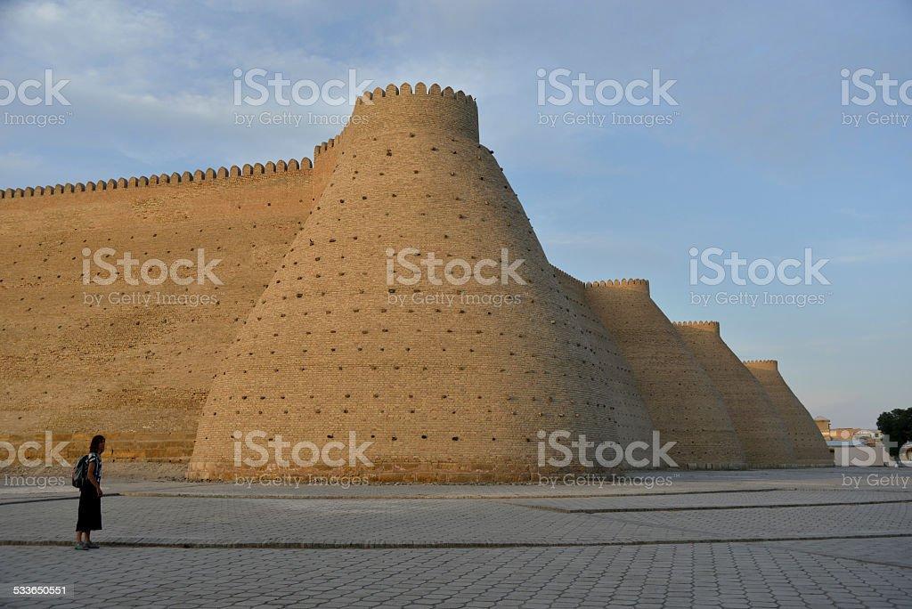 Fotress Ark in Bukhara stock photo