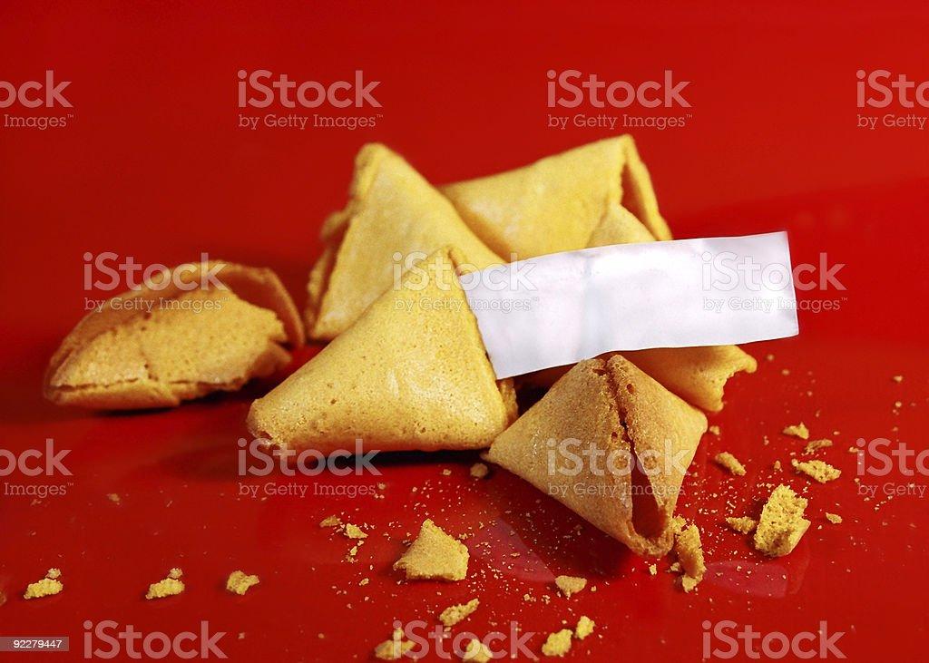 fotune cookies royalty-free stock photo