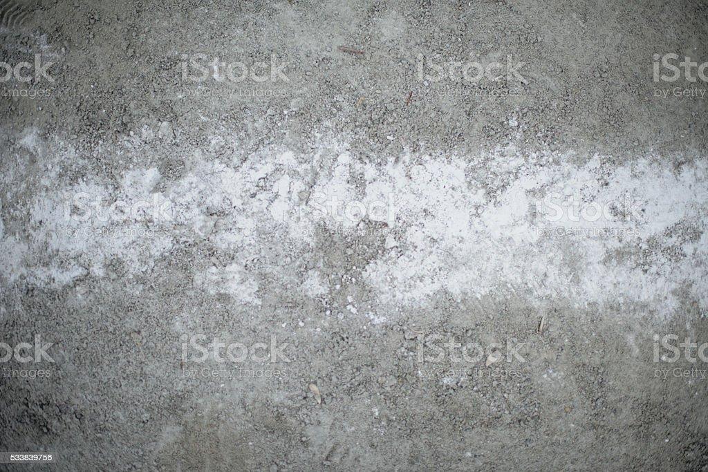 Foul Ball Chalk Line On A Baseball Field stock photo