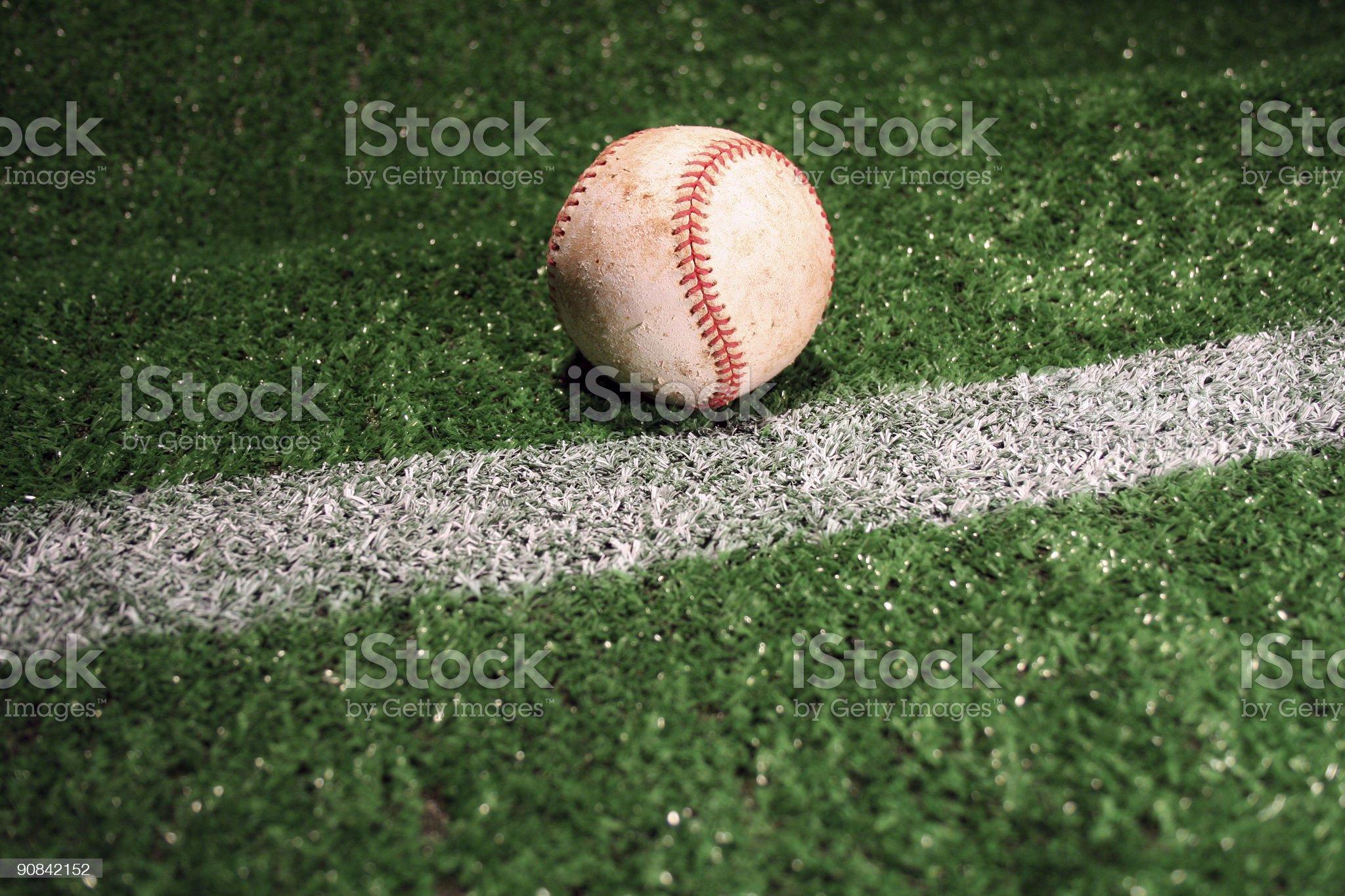 foul ball royalty-free stock photo