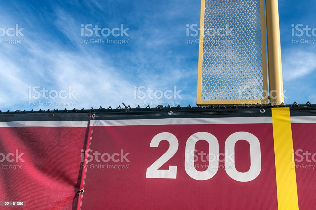 Foul Pole stock photo