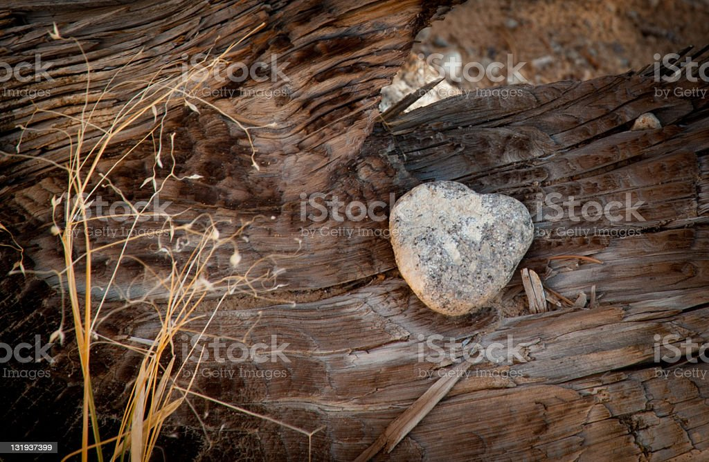 Found a Heart in the Desert stock photo