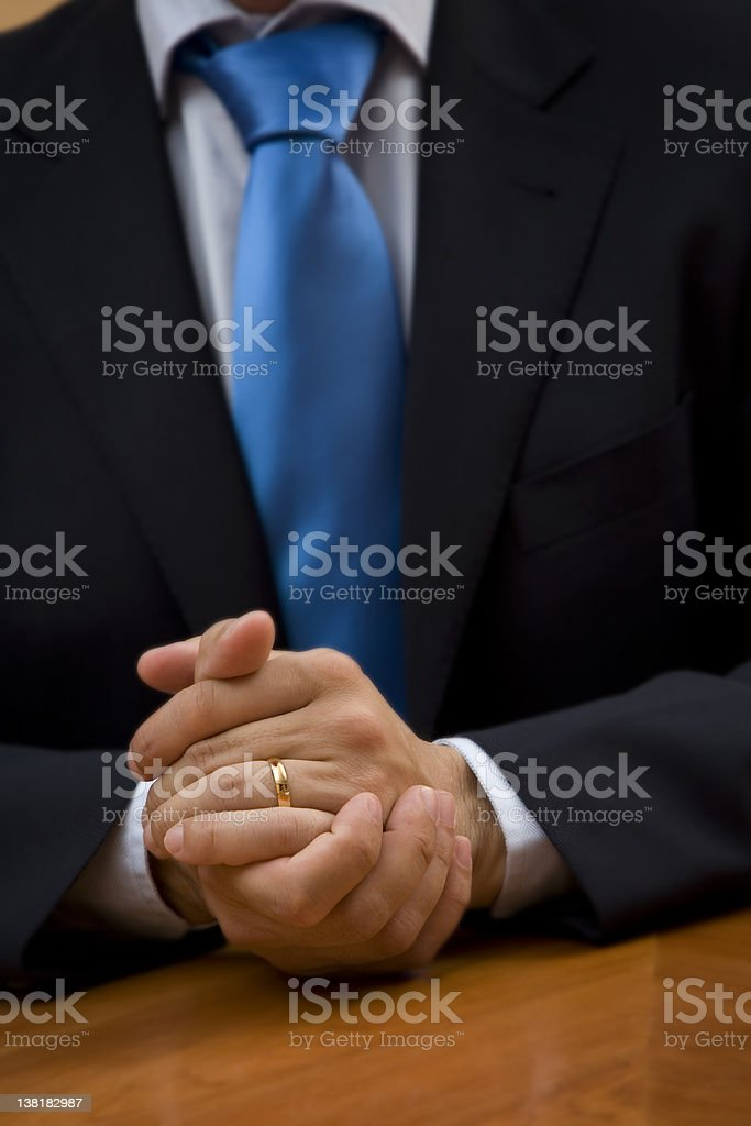I found a solution businessman hald together royalty-free stock photo
