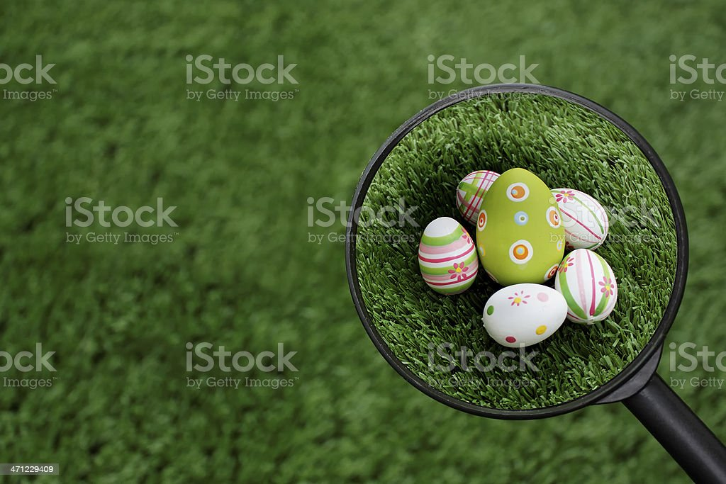 Found Easter eggs group stock photo