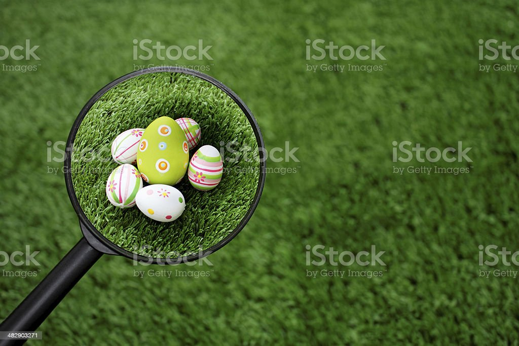 Found Easter eggs group royalty-free stock photo