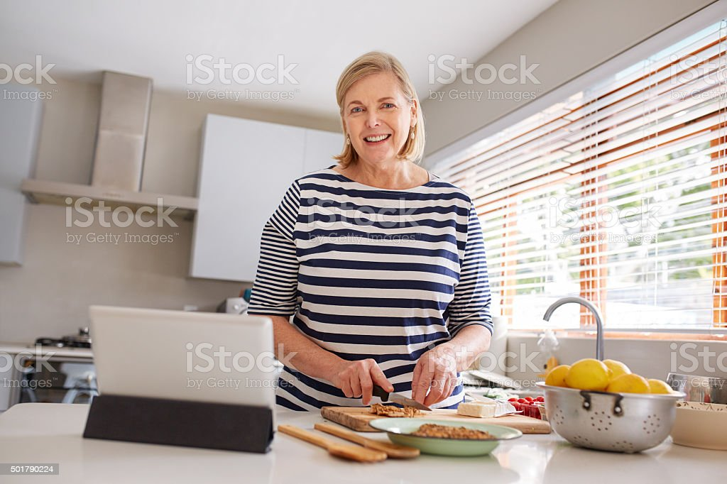 I found the best recipe online stock photo