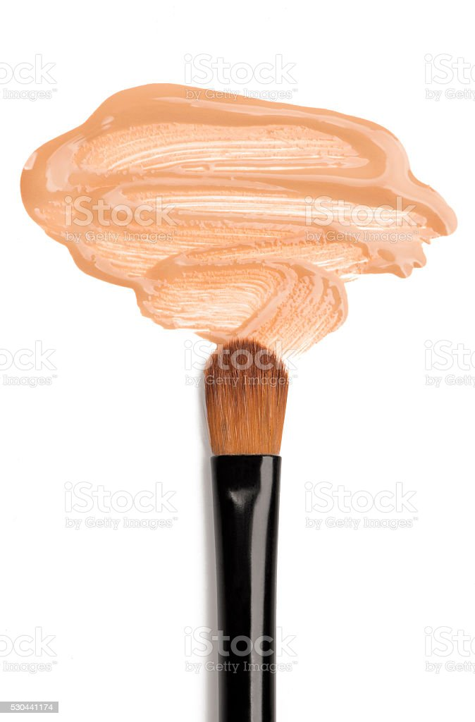 Foundation and make-up brush stock photo