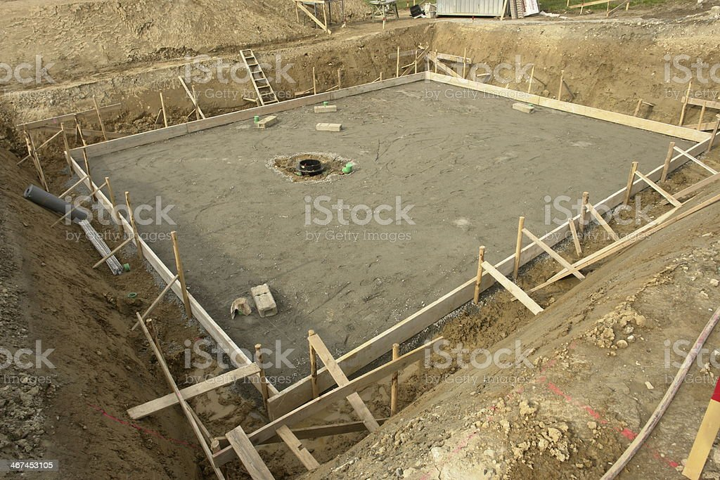 foundation base building site stock photo