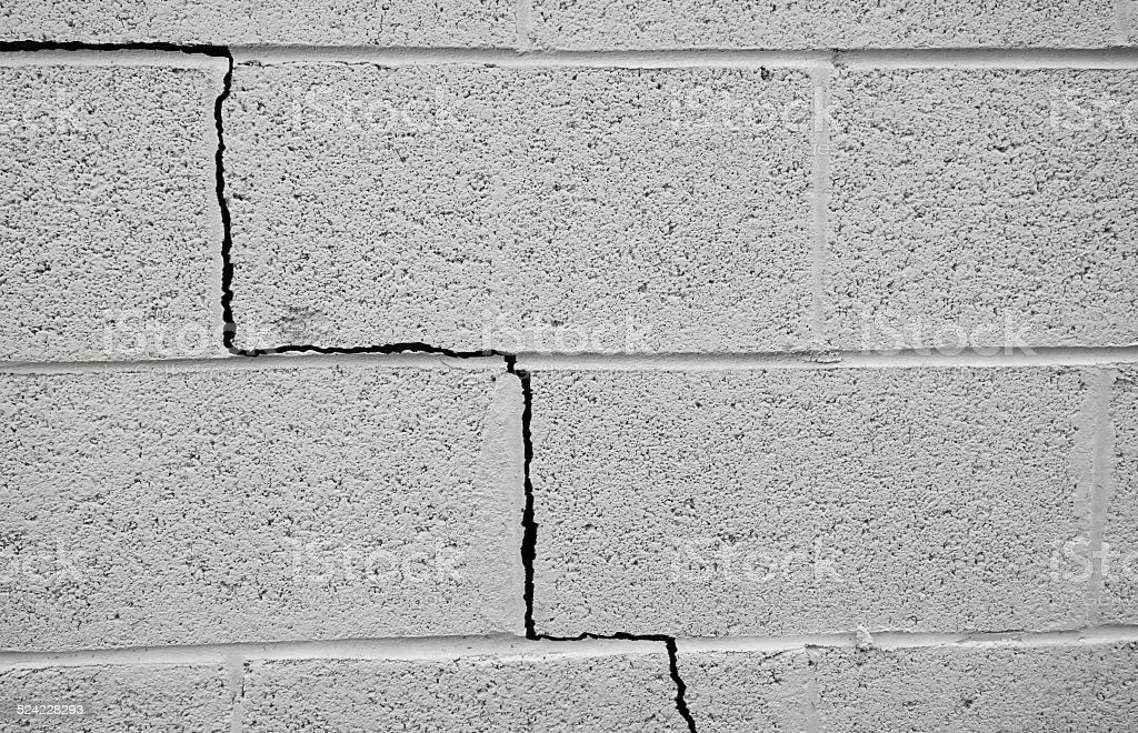 Foundation crack stock photo