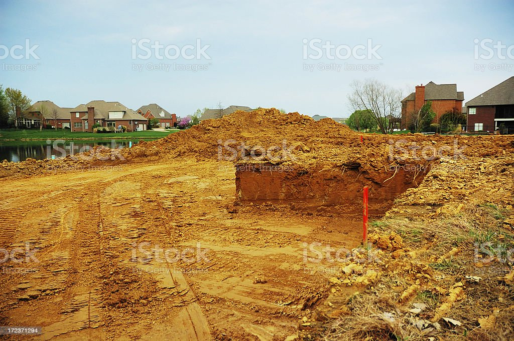 Foundation for Single Family Home stock photo