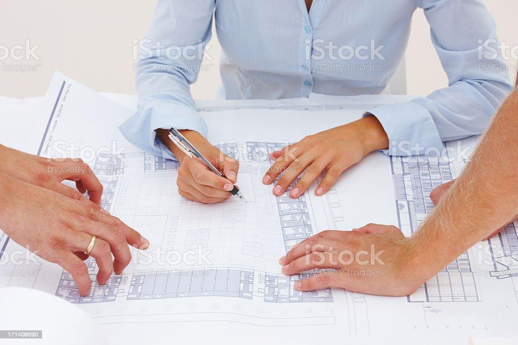 Foundation planning phase royalty-free stock photo