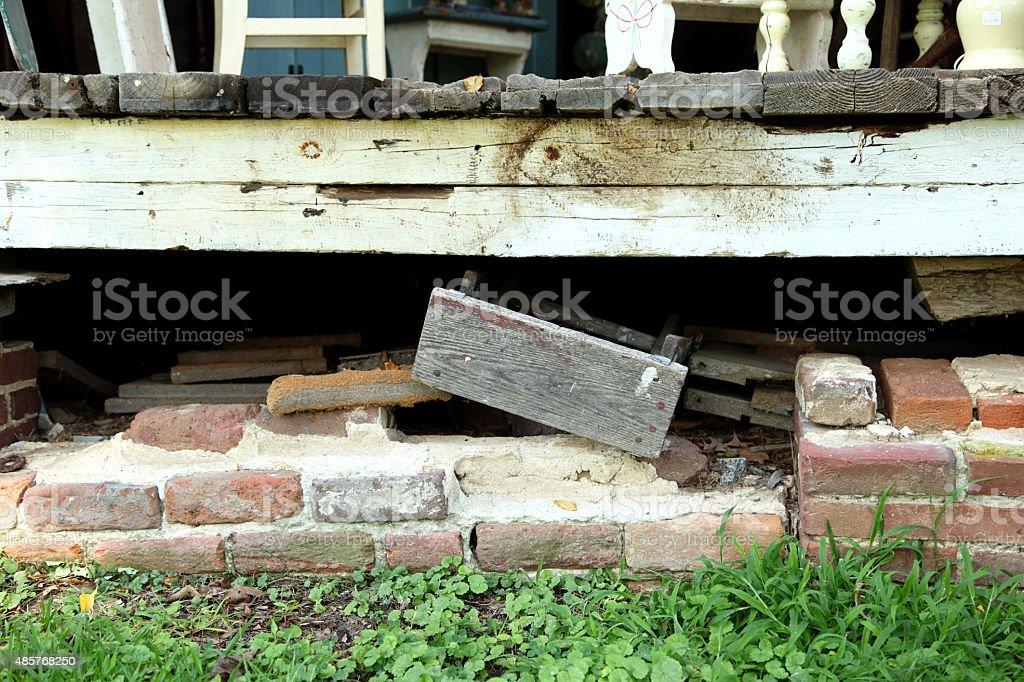 Foundation Problems stock photo