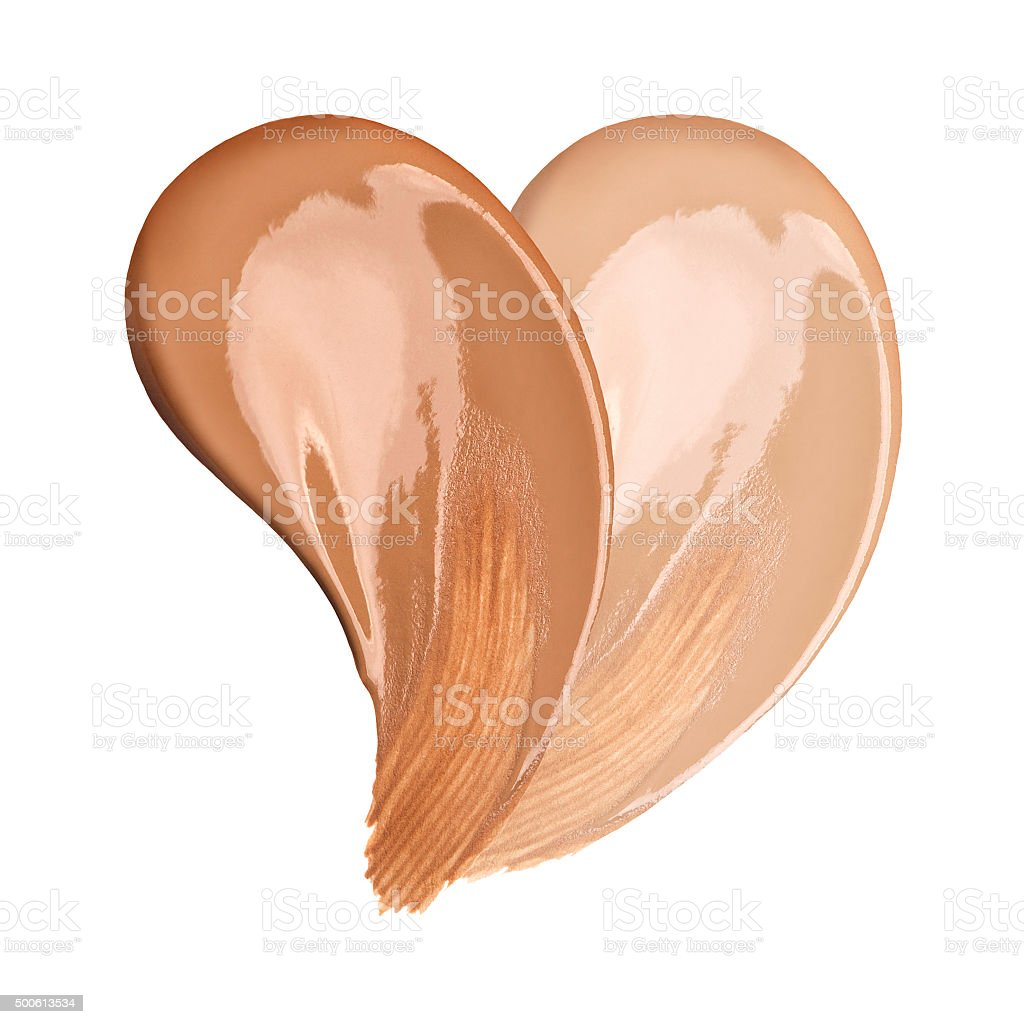 Foundation smudges range of colors stock photo