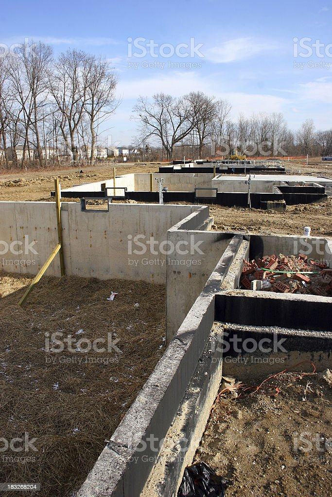 Foundations Vertical royalty-free stock photo