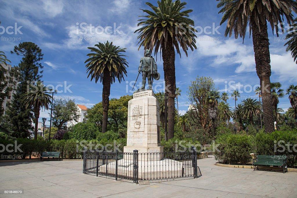 Founder Monument in Salta, Argentina stock photo