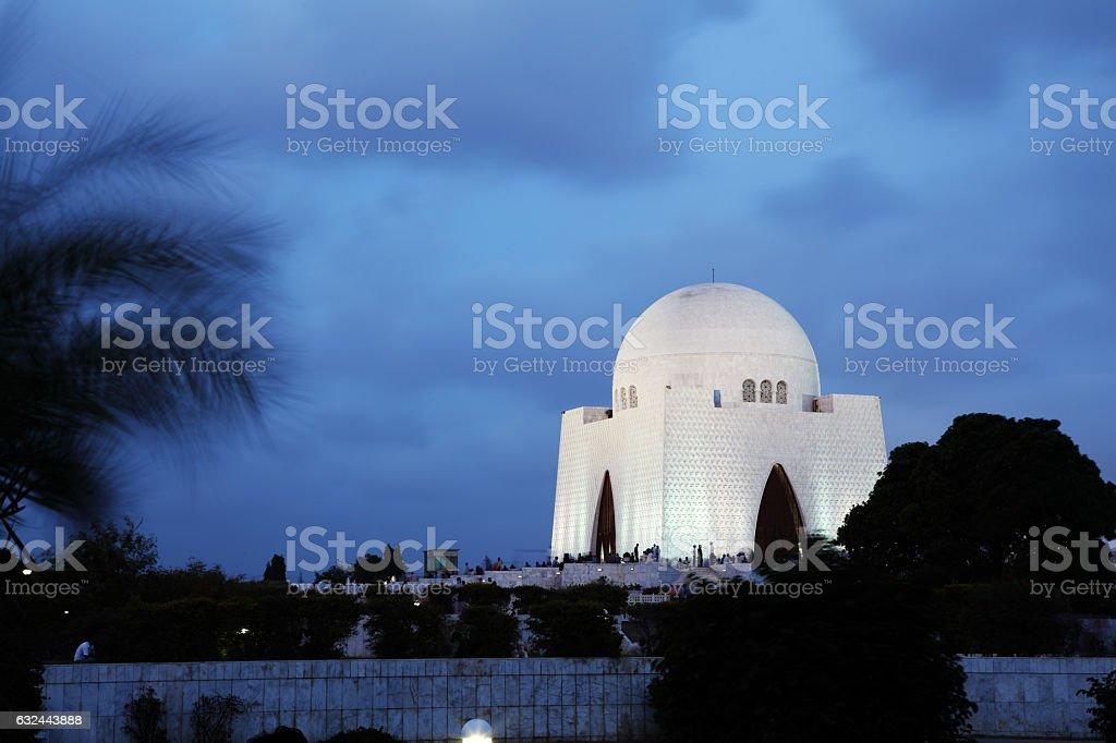 Founder of Pakistan Jinnah's Tomb called Mazar-e-Quid - Karachi stock photo