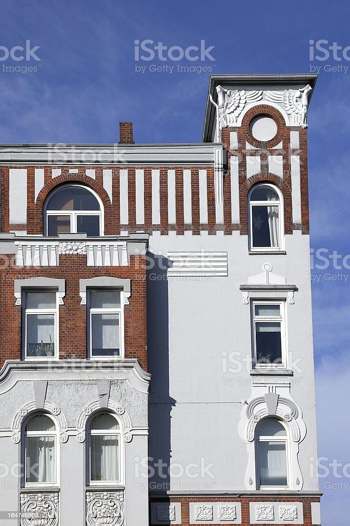 founding period townhouse stock photo