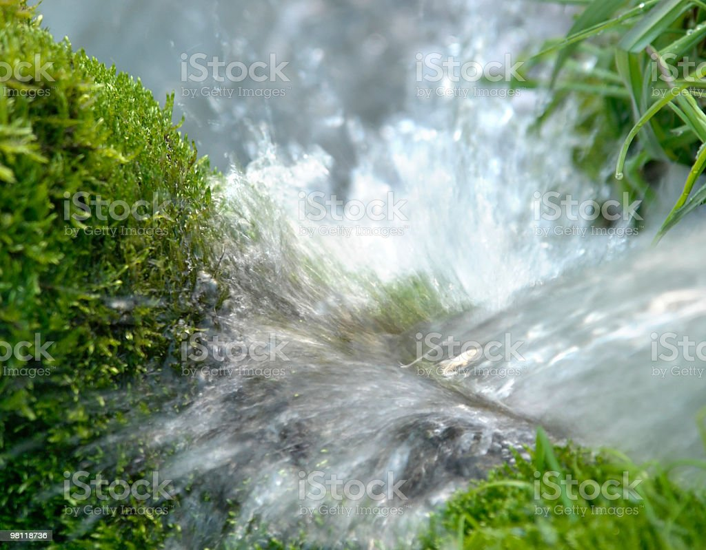 fount with sputtering water royalty-free stock photo
