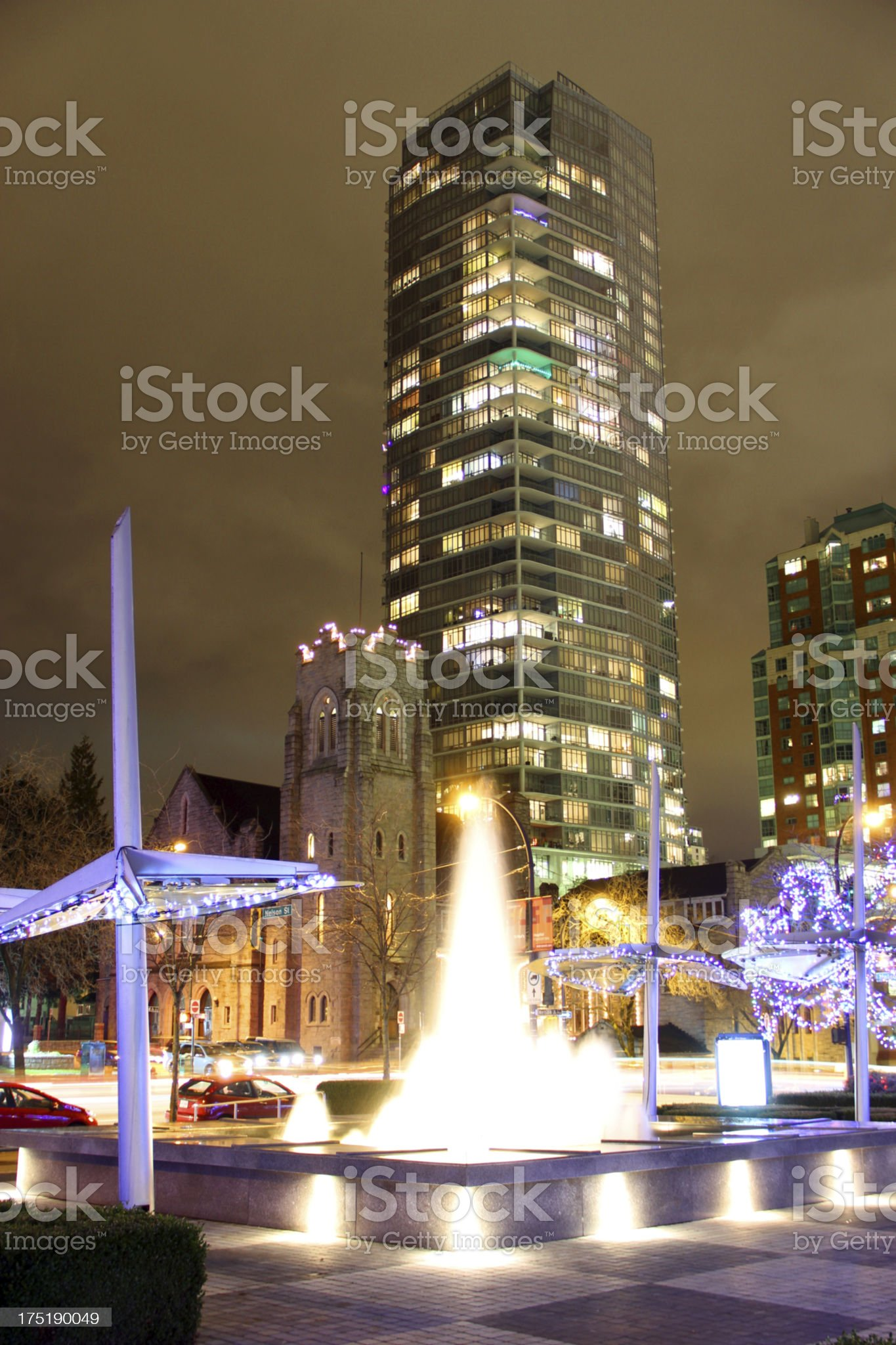 Fountain and Plaza royalty-free stock photo