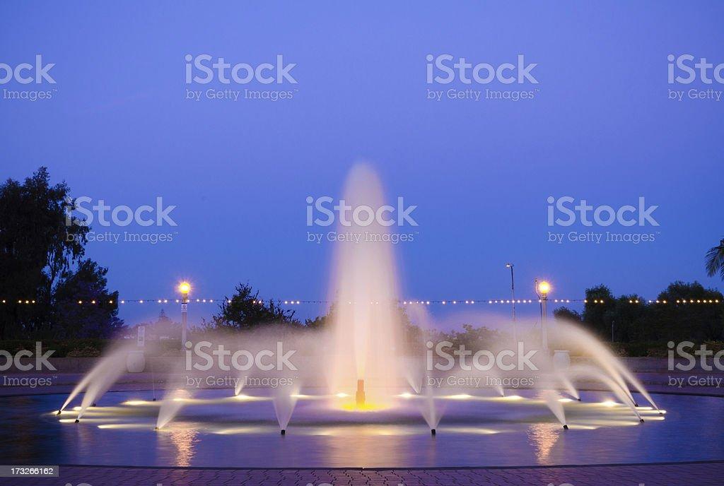 Fountain at Balboa Park in San Diego, CA royalty-free stock photo