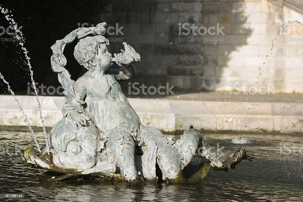 Fountain at Friedensengel in Munich, Germany royalty-free stock photo