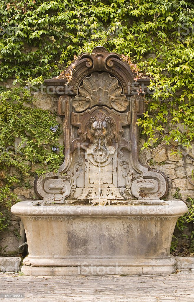 Fountain at Mougins stock photo
