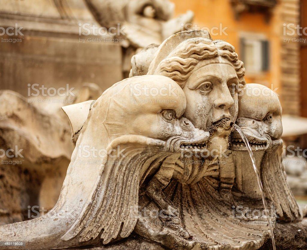 Fountain at Piazza della Rotonda stock photo