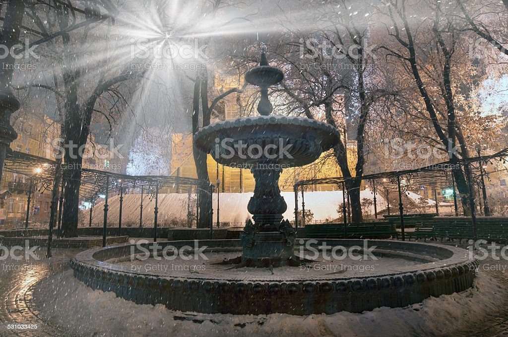 Fountain at the Golden Gate stock photo