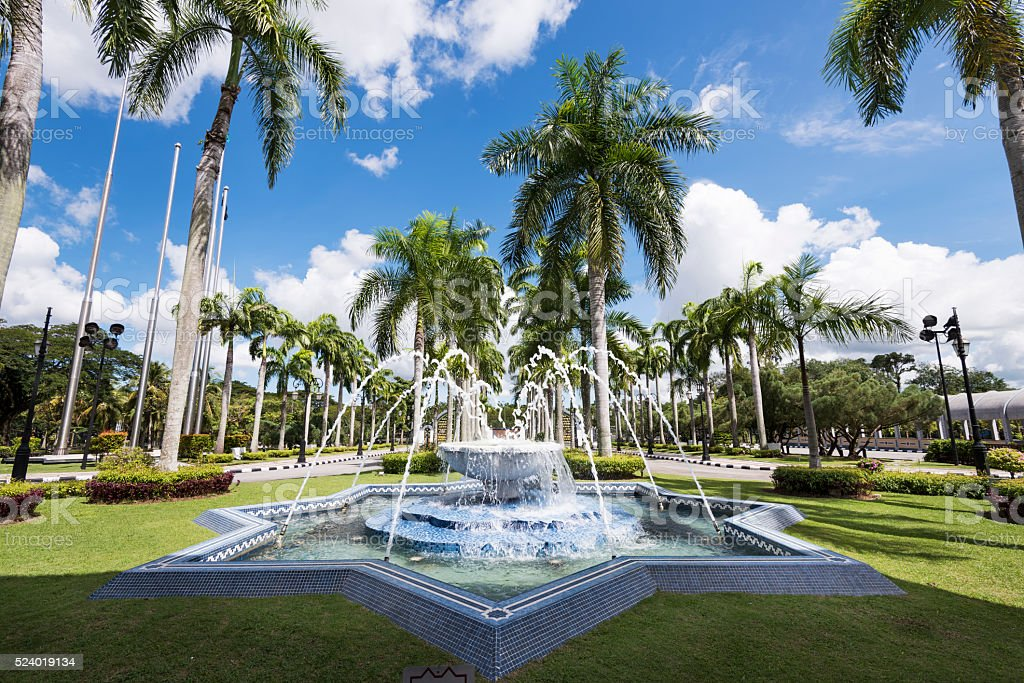 Fountain at Tropical Park stock photo