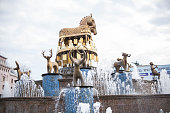 Fountain Colchis in center of Kutaisi