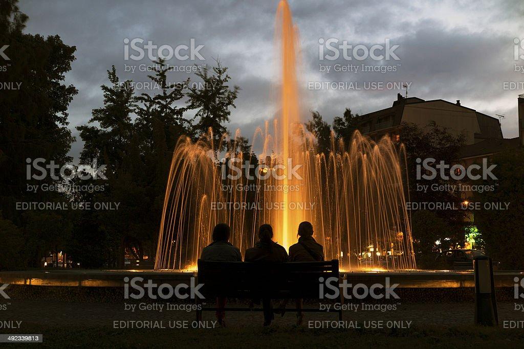 Fountain. Color Image stock photo