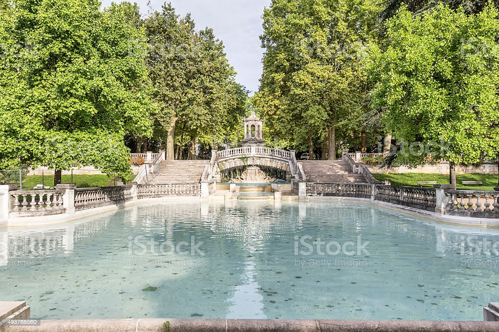 Fountain Darcy. Dijon, Burgundy, France stock photo