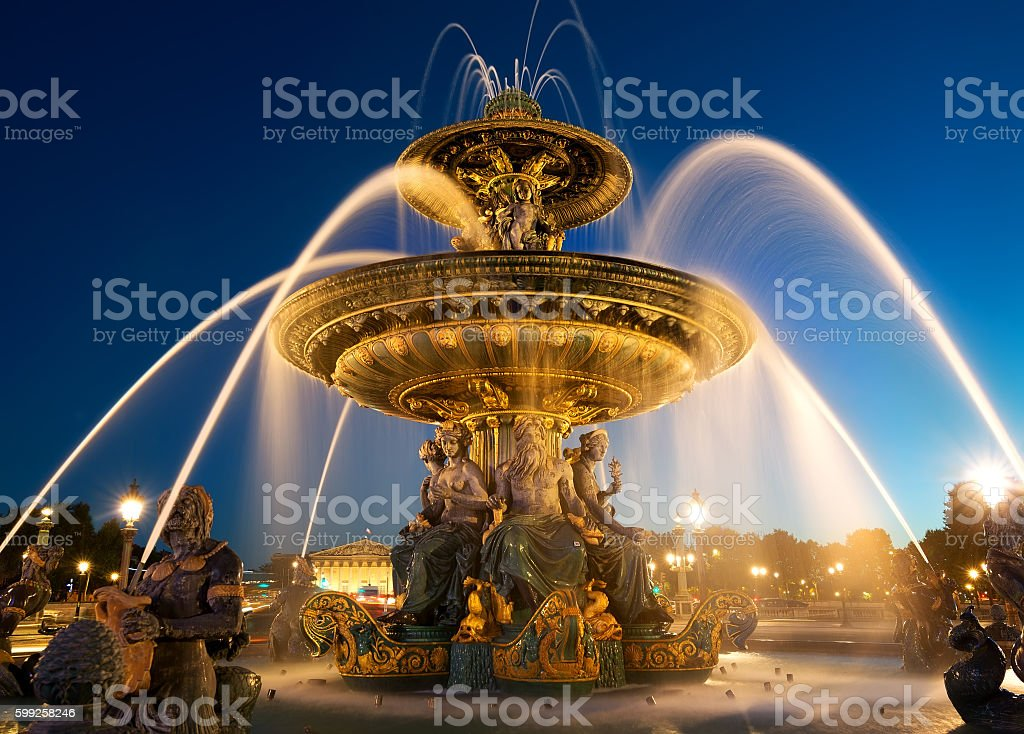Fountain des Mers stock photo