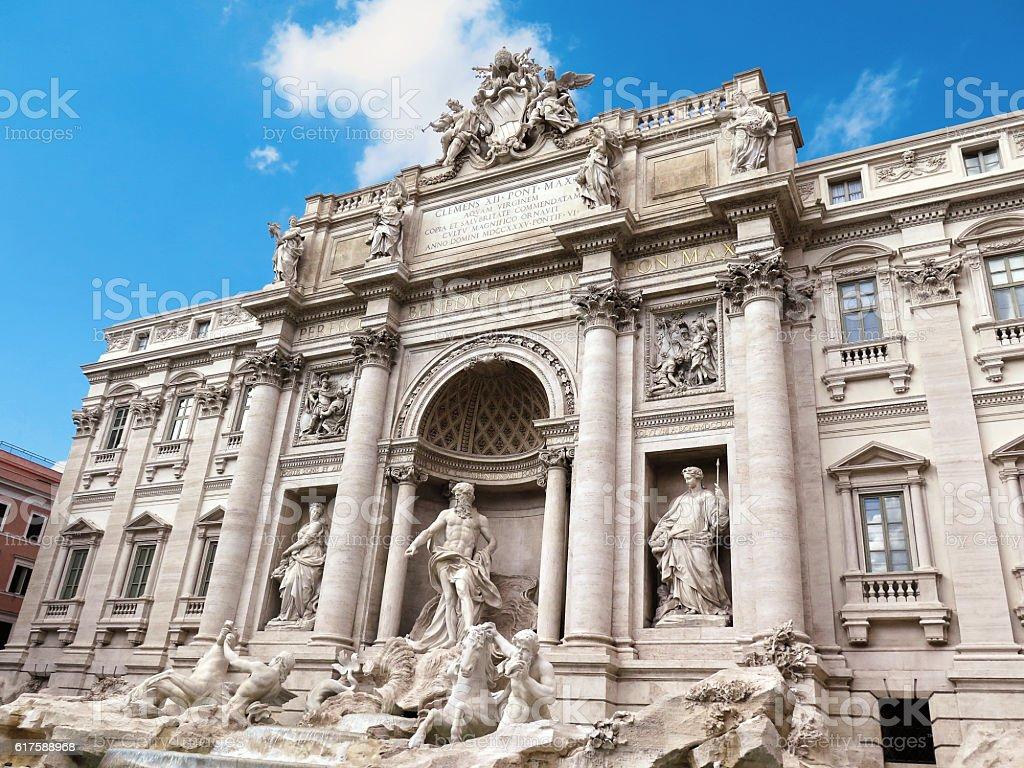 Fountain di Trevi in Rome, Italy stock photo