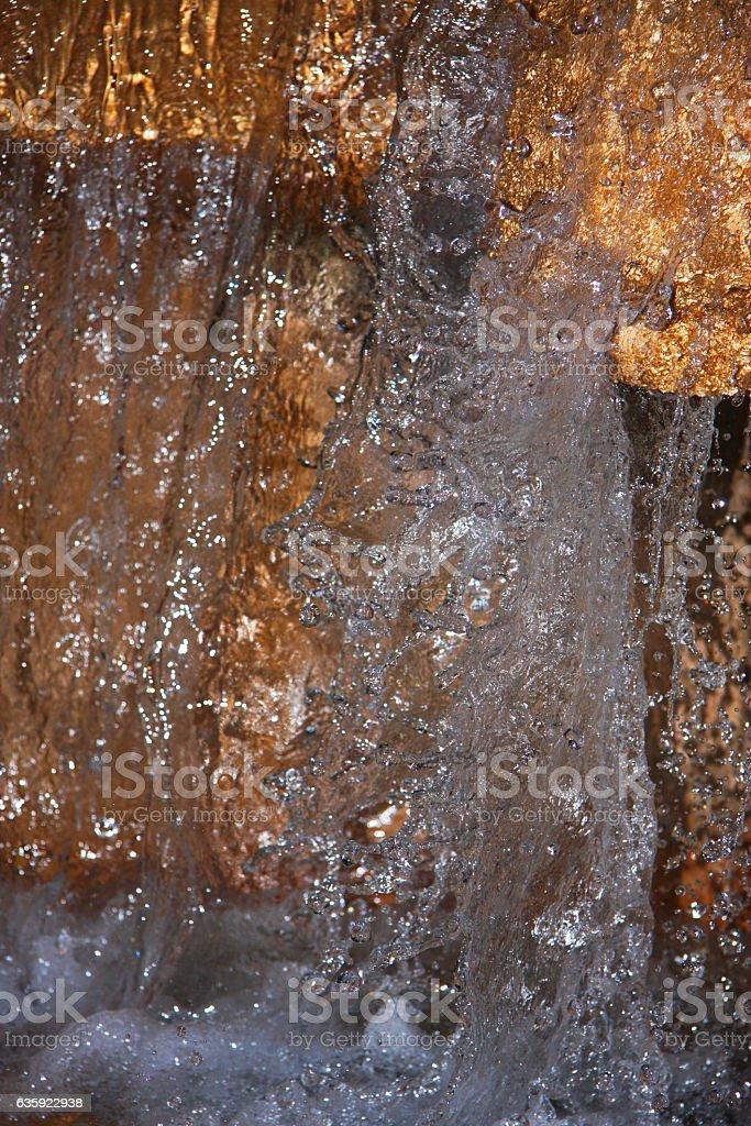 fountain drops stock photo