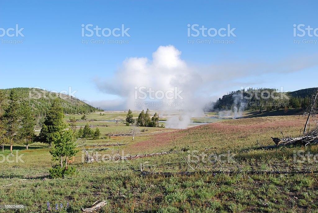 Fountain Flat Geyser royalty-free stock photo