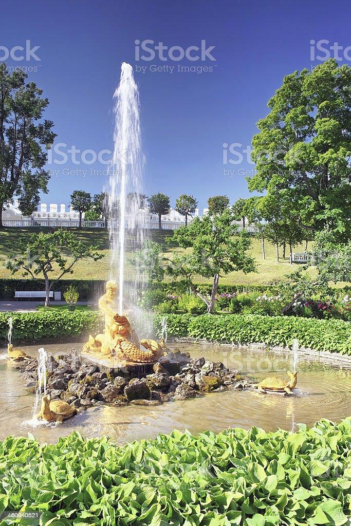 Fountain 'Greenhouse fountain'  in Pertergof, Saint-Petersburg royalty-free stock photo