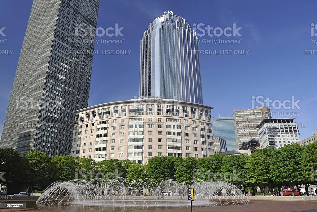 Fountain in Boston stock photo