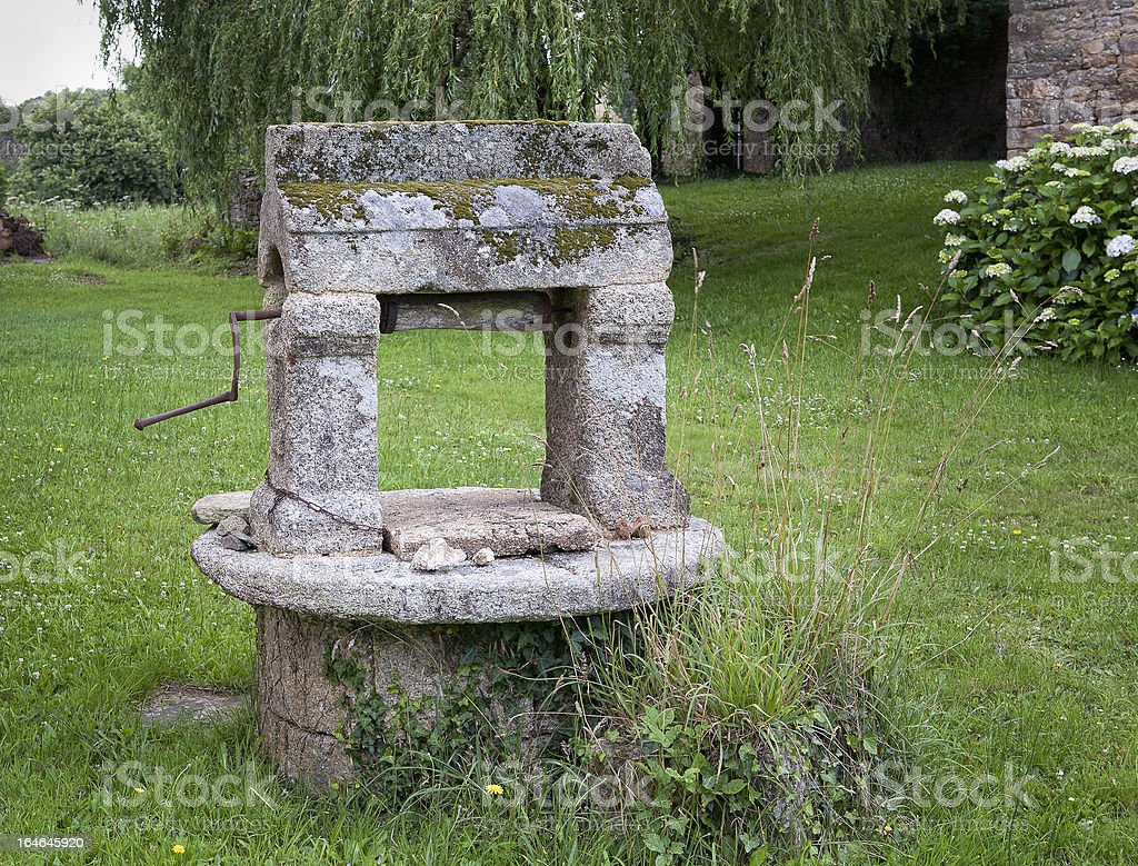 Fountain In Brittany royalty-free stock photo