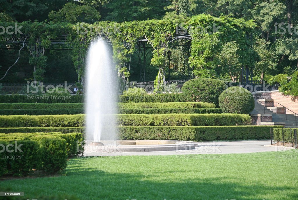 Fountain In Central Park royalty-free stock photo