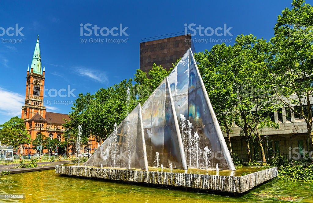 Fountain in Dusseldorf, Germany stock photo