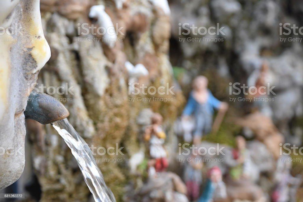 Fountain in Italy stock photo