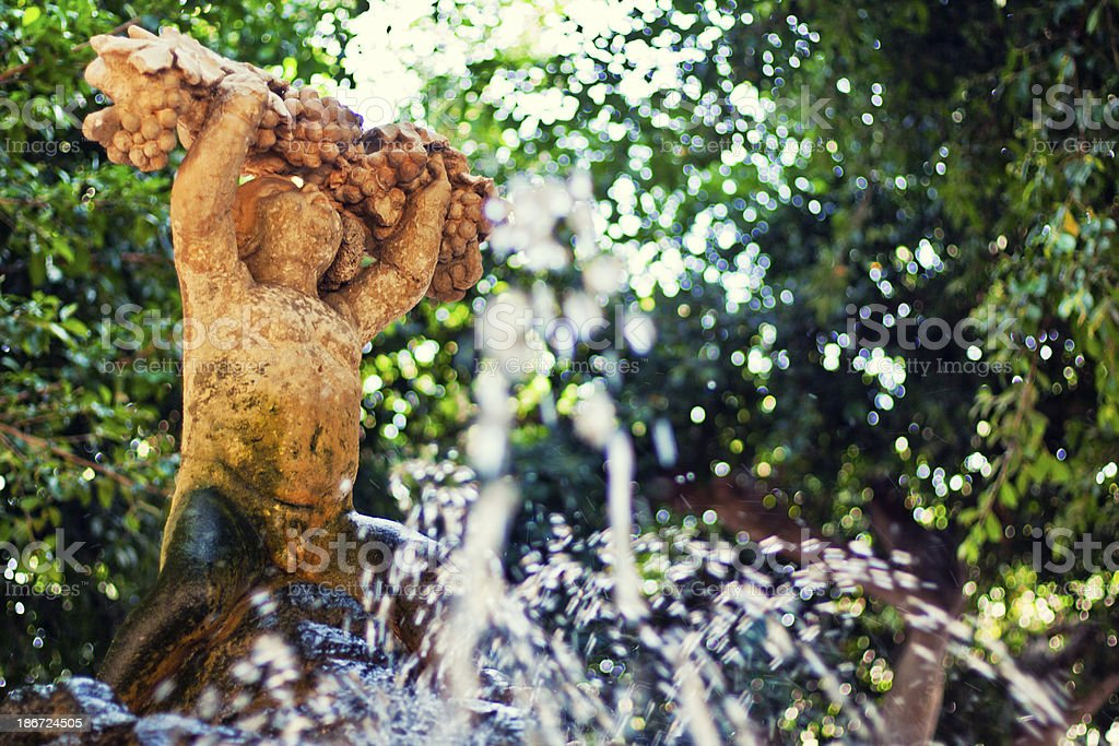 Fountain in Marsala stock photo
